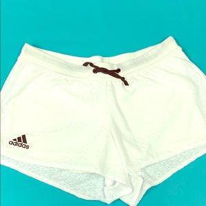 Adidas climalite white shorts Medium NWOT